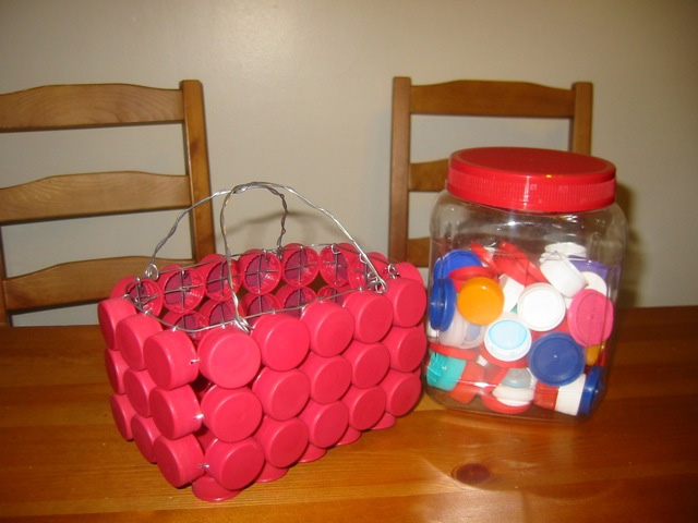 Bottle cap basket 1
