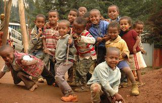 Group kid smile